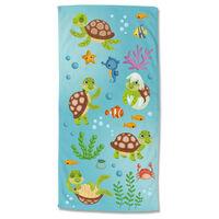 Good Morning Toalla de playa TURTLES multicolor 75x150 cm