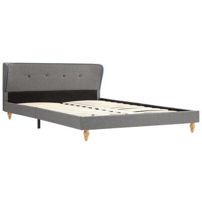 vidaXL Estructura de cama de tela gris claro 140x200 cm
