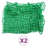 vidaXL Redes para remolque 2 unidades PP 2x3 m