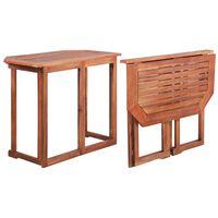 vidaXL Mesa para terraza bistró madera maciza de acacia 90x50x75 cm