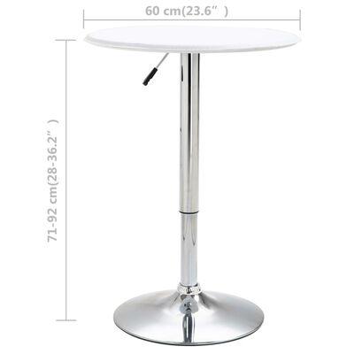 vidaXL Mesa alta de cocina MDF blanco Ø60 cm