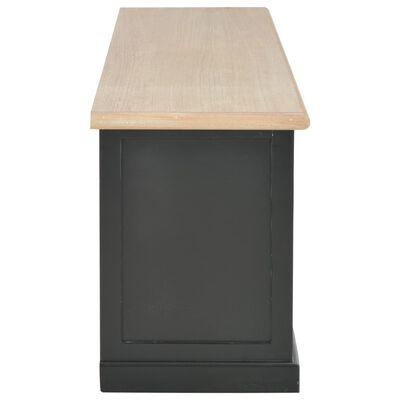 vidaXL Mueble para el televisor de madera negro 120x30x40 cm