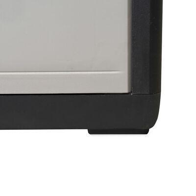 vidaXL Armario de jardín con 3 estantes negro y gris