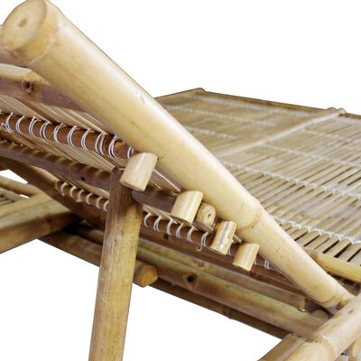 vidaXL Tumbona con cojines para 2 personas bambú