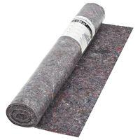 vidaXL Fieltro antideslizante protector color gris 50 m 180 g/m²