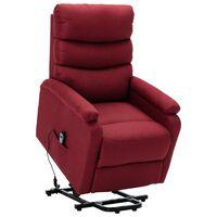 vidaXL Sillón reclinable de tela rojo vino tinto