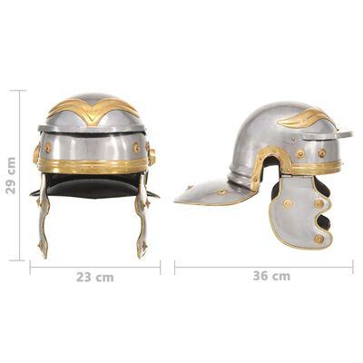 vidaXL Réplica de casco de soldado romano rol en vivo acero plateado
