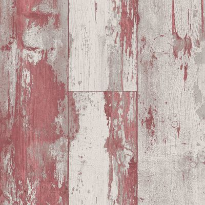 DUTCH WALLCOVERINGS Papel de pared madera rojo y beige