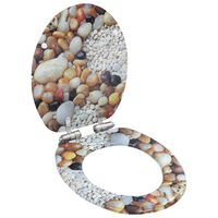 vidaXL Asiento inodoro WC MDF tapa de cierre suave diseño piedras