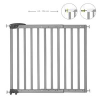 Badabulle Puerta de seguridad extensible Deco Pop gris 63-106 cm