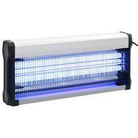 vidaXL Lámpara antimosquitos de aluminio y ABS negro 60 W