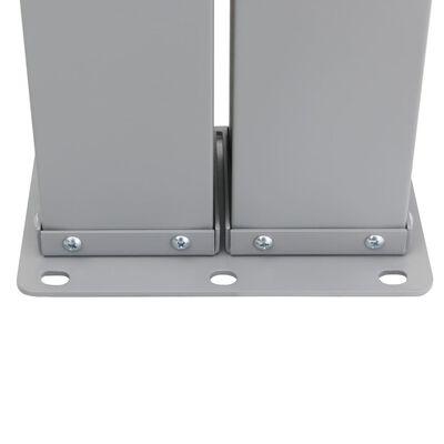 vidaXL Toldo lateral retráctil gris antracita 140x600 cm