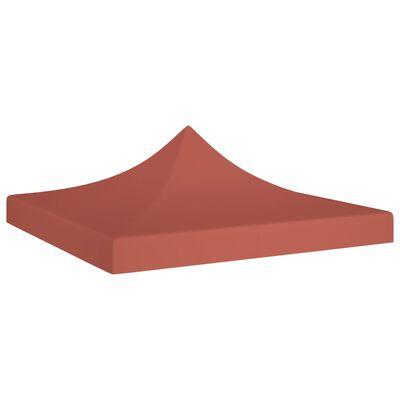vidaXL Techo de carpa para celebraciones terracota 2x2 m 270 g/m²