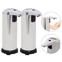vidaXL Dispensador de jabón automático sensor infrarrojo 2 uds 600ml