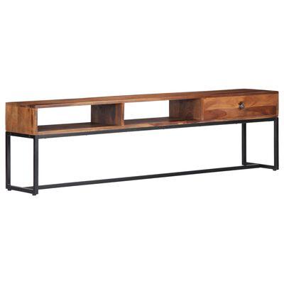vidaXL Mueble para TV 160x30x45 cm madera maciza de sheesham