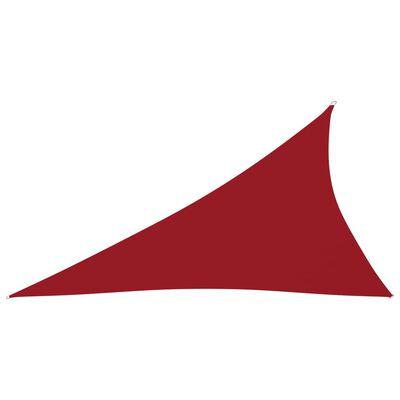 vidaXL Toldo de vela triangular de tela oxford rojo 4x5x6,4 m