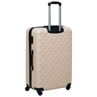 vidaXL Juego de maletas rígidas con ruedas 3 piezas ABS dorado