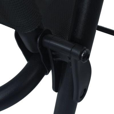 vidaXL Sillas plegables de jardín 2 unidades textilene negro