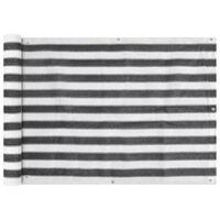 vidaXLToldo para balcón HDPE 75x600 cm gris antracita y blanco