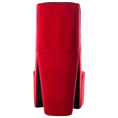 vidaXL Sillón con forma de zapato de tacón terciopelo rojo