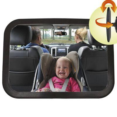 A3 Baby & Kids Espejo retrovisor para bebé regulable negro 26,5x19 cm