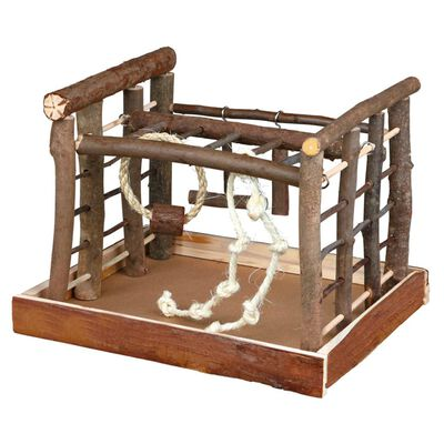 TRIXIE Patio de juegos para pájaros Natural Living 35x29x25 cm madera