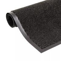 vidaXL Alfombra de entrada rectangular de nudo 90x150 cm negra