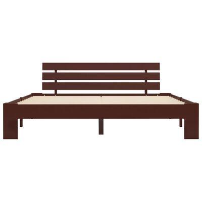 vidaXL Estructura de cama madera maciza pino marrón oscuro 180x200 cm
