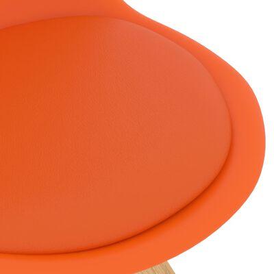 vidaXL Juego de comedor 5 piezas naranja