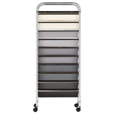 vidaXL Carrito de almacenaje portátil XXL 15 cajones plástico ombre