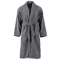 vidaXL Albornoz de rizo unisex 100% algodón gris antracita talla M