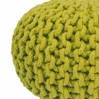Round Mini Puff 30x30x21 Verde 100% Algodón