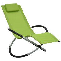 vidaXL Tumbona para niños acero verde