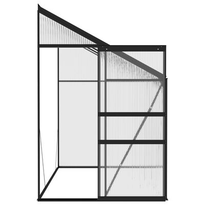 vidaXL Invernadero de aluminio gris antracita 5,02 m³