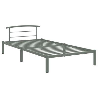 vidaXL Estructura de cama de metal gris 100x200 cm