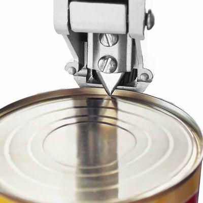 vidaXL Abridor latas de aluminio y acero inoxidable plateado 70 cm