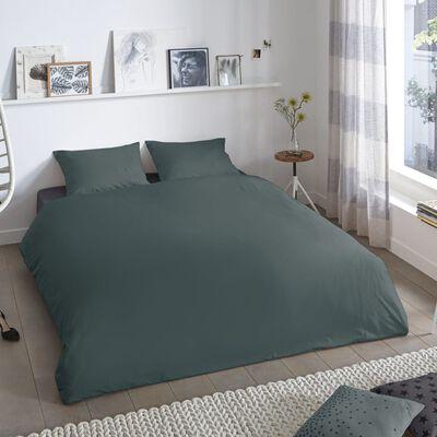 Good Morning Funda de edredón Uni 140x200/220 cm verde oscuro