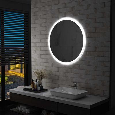 vidaXL Espejo de baño con LED 80 cm