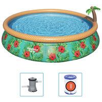 Bestway Juego de piscina inflable Paradise Palms Fast Set 457x84 cm