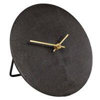 Gifts Amsterdam Reloj de escritorio Moon S aluminio negro 20 cm