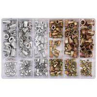 YATO Tuercas de remache 300 piezas aluminio acero al carbono M3-M10