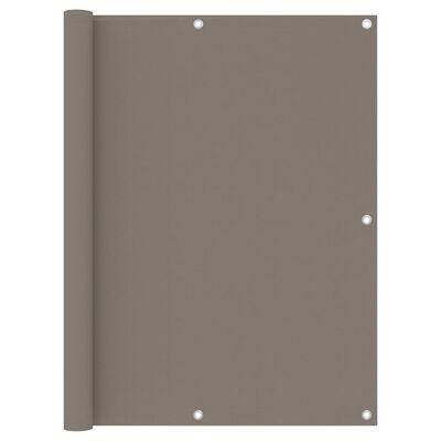 vidaXL Toldo para balcón de tela oxford gris taupé 120x300 cm