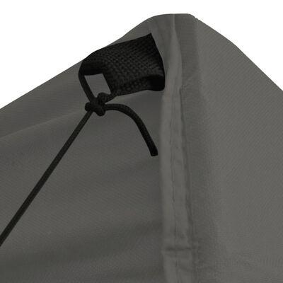 vidaXL Cenador plegable con 4 paredes gris antracita 5x5 m