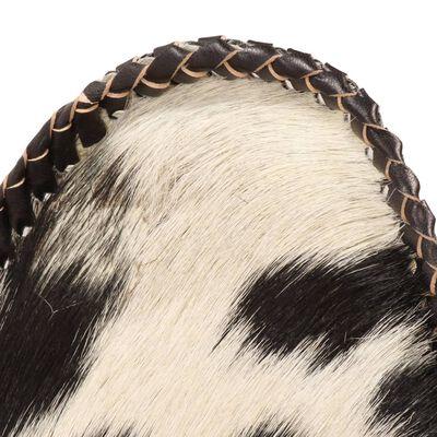 vidaXL Silla Butterfly de piel de cabra auténtica negra y blanca