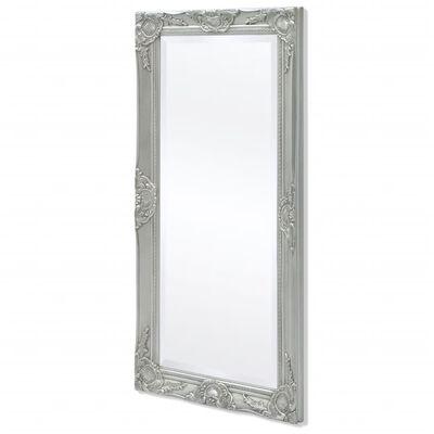vidaXL Espejo de pared estilo barroco 100x50 cm plateado