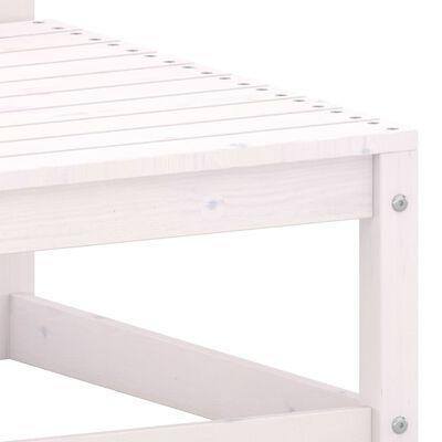 vidaXL Muebles de jardín 2 piezas cojines blanco madera de pino