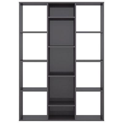 vidaXL Divisor/estantería aglomerado gris brillante 100x24x140 cm