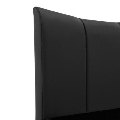 vidaXL Estructura de cama de cuero sintético negro 180x200 cm