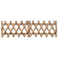 vidaXL Puertas de valla 2 uds madera de pino impregnada 300x60 cm