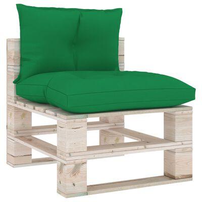 vidaXL Cojines para sofá de palets 2 unidades tela verde